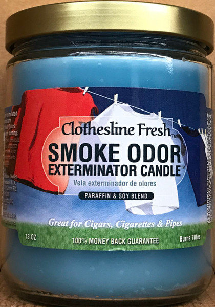 Odor Eliminator Clothesline Scent 13 oz Jar Candle 70 hour burn time
