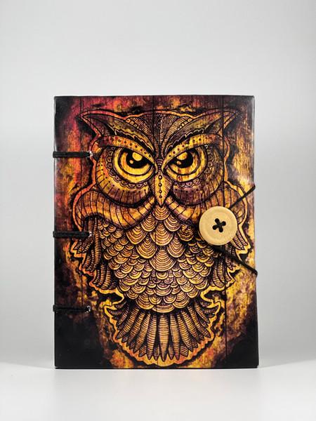 Golden Owl Handmade Paper Journal 5x7 inches