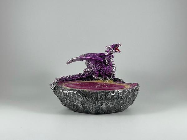 Purple dragon ashtray