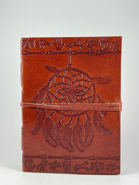 Dreamcatcher leather bound journal.