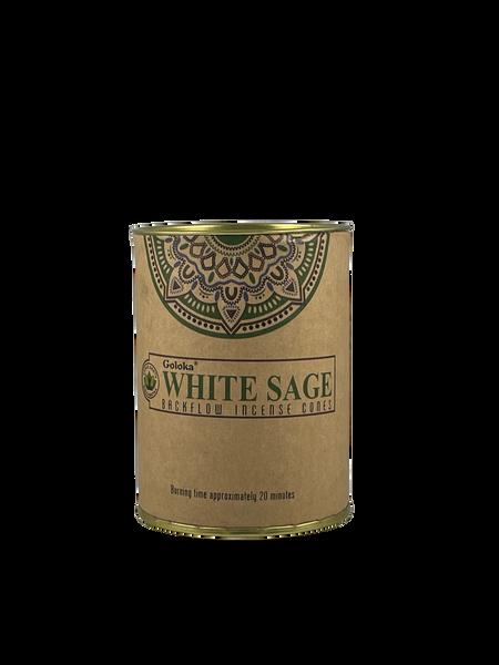 Goloka White Sage Backflow Incense Cones 24 pieces