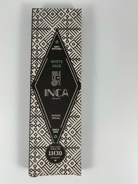 White Sage Inca Aromas 4 stick incense - burns for 90 minutes