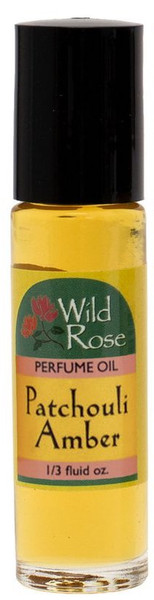 Wild Rose Patchouli Amber Perfume Oil Roll-On