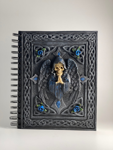 Grim Reaper design poly resin cover journal