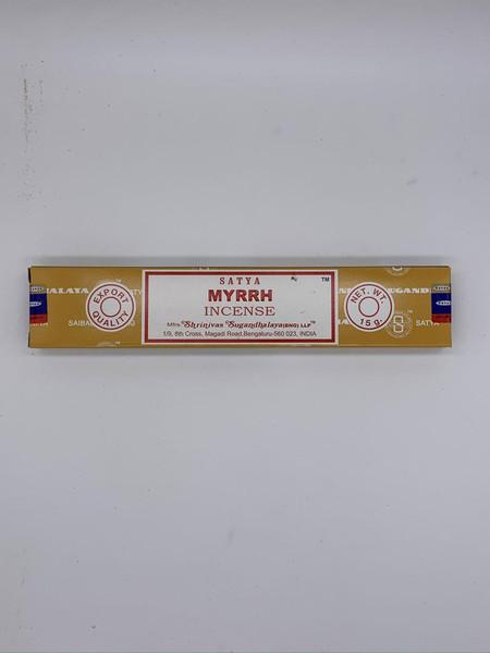 Nag Champa Satya Myrrh Incense Sticks 15 Gram Box