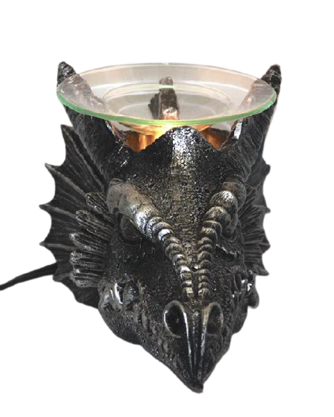 Mythical Dragon Head Polyresin Fragrance Lamp for tarts or scented oils.