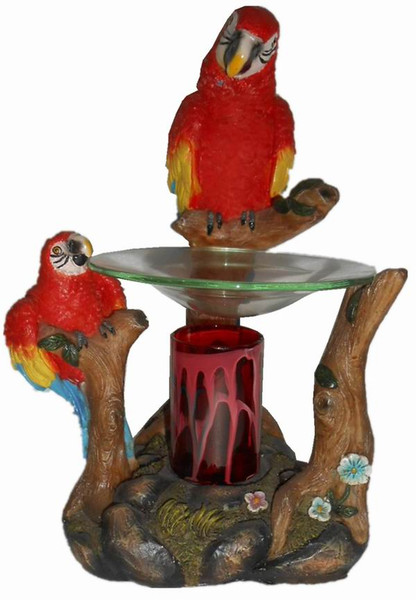 Fun, home decor, red parrot fragrance lamp for scented oils.