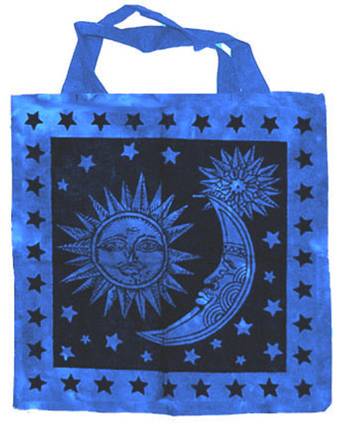 "Sun and Moon Cotton Tote Bag 18""x 18"""