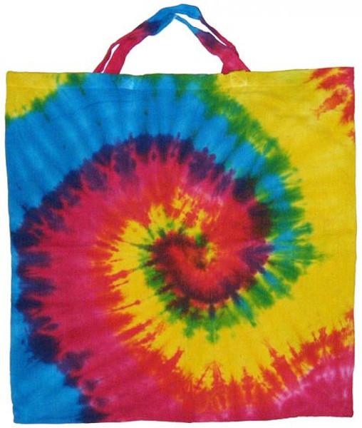 """Tie Dye Cotton Tote Bag 18"""" x 18"""""""