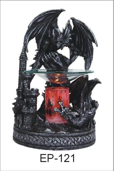 Black Dragon Polyresin Aroma Oil Burner Lamp Night light.