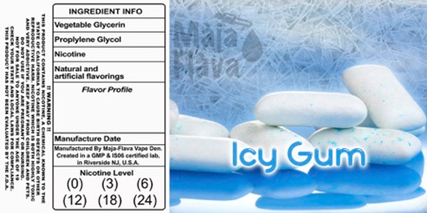 Ice Cold Gum . Fresh breath taste vape taste amazing!
