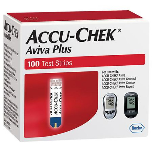 Accu Chek Aviva Plus Test Strips 100 count