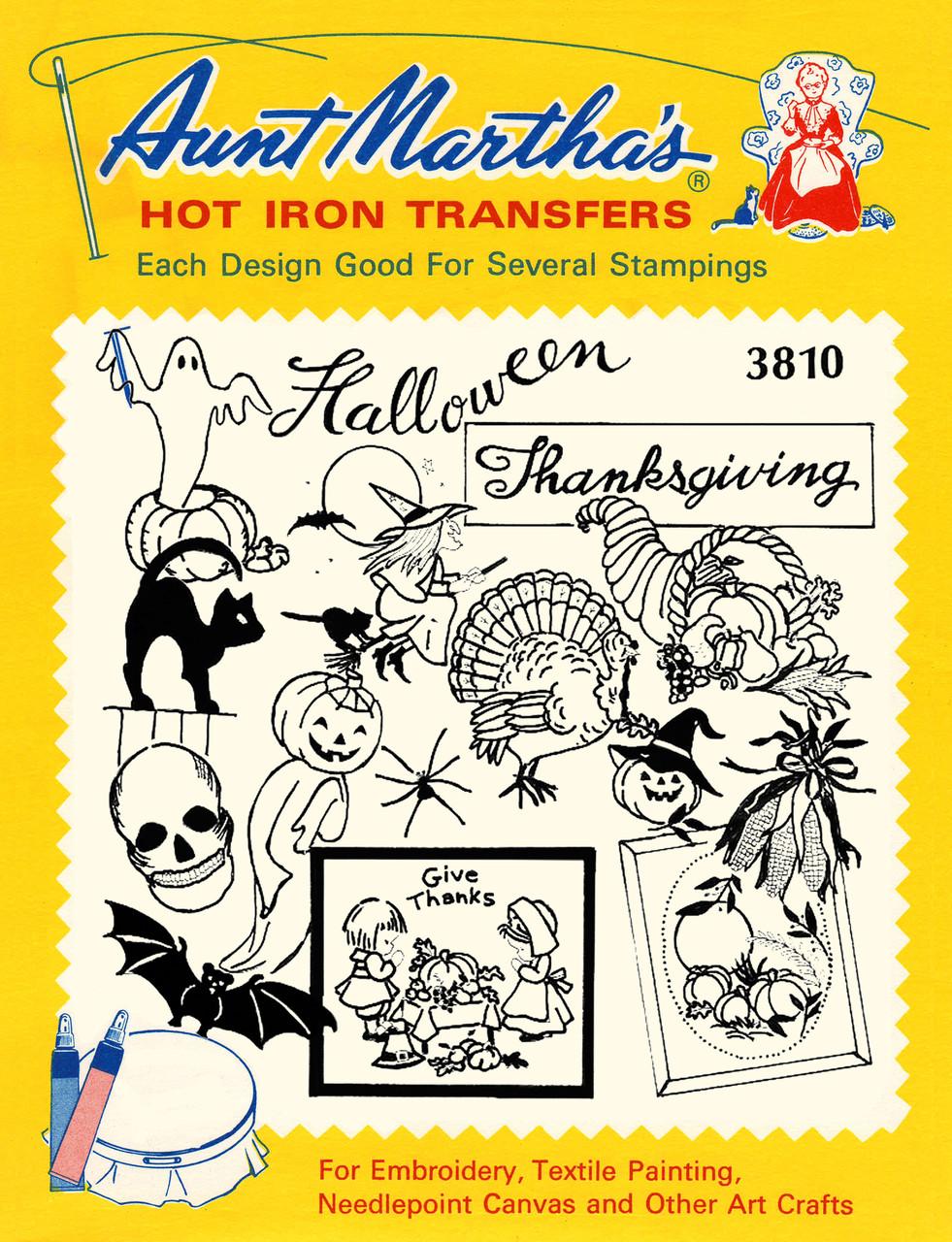 Aunt Martha S 3810 Halloween Thanksgiving Designs Colonial Patterns Inc