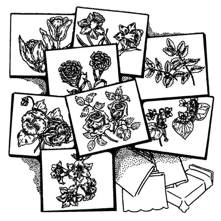Aunt Martha's #3698 Eight Flowers