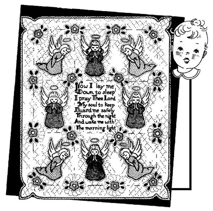 Aunt Martha's #3693 Angels & Prayer for Child's Quilt