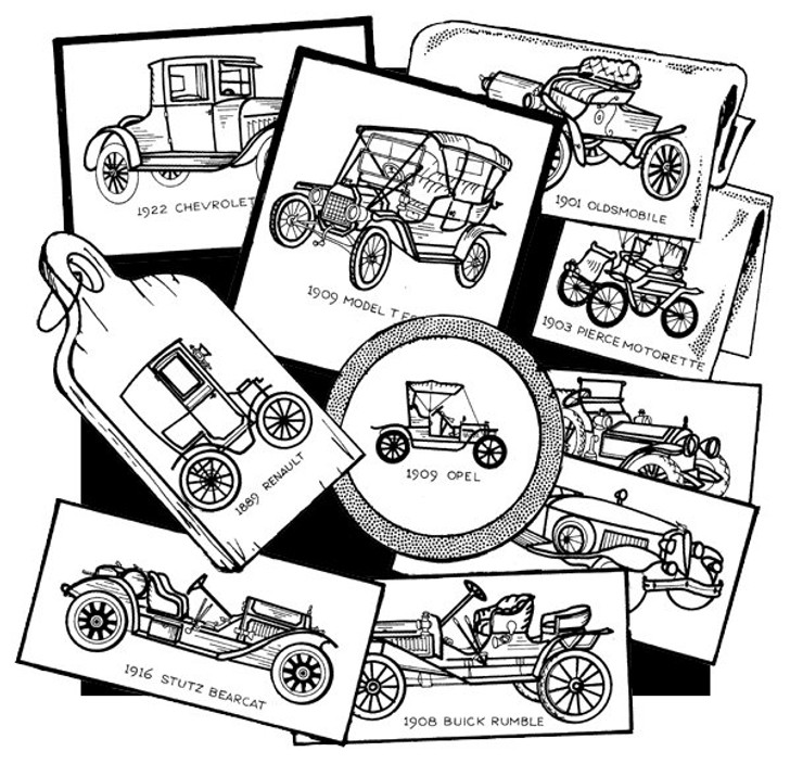 Aunt Martha's #3772 Antique Cars