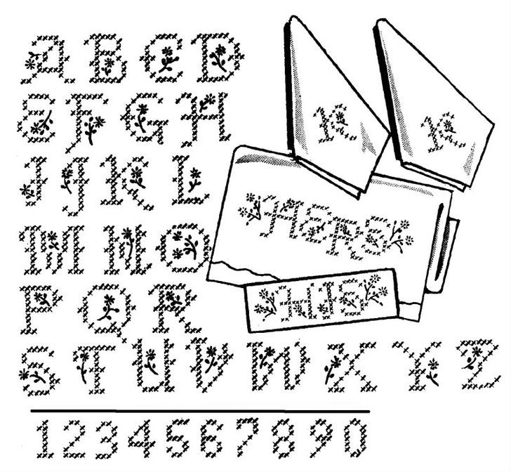 Aunt Martha's #3904 Cross Stitch Alphabet