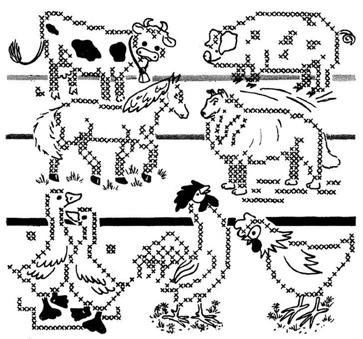 Aunt Martha's #3906 Farmyard Animals