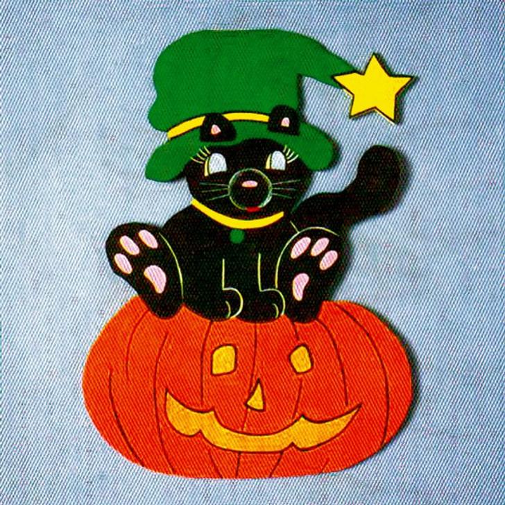 Uncle Bud's Yard Buddies #3012 Cat on Pumpkin