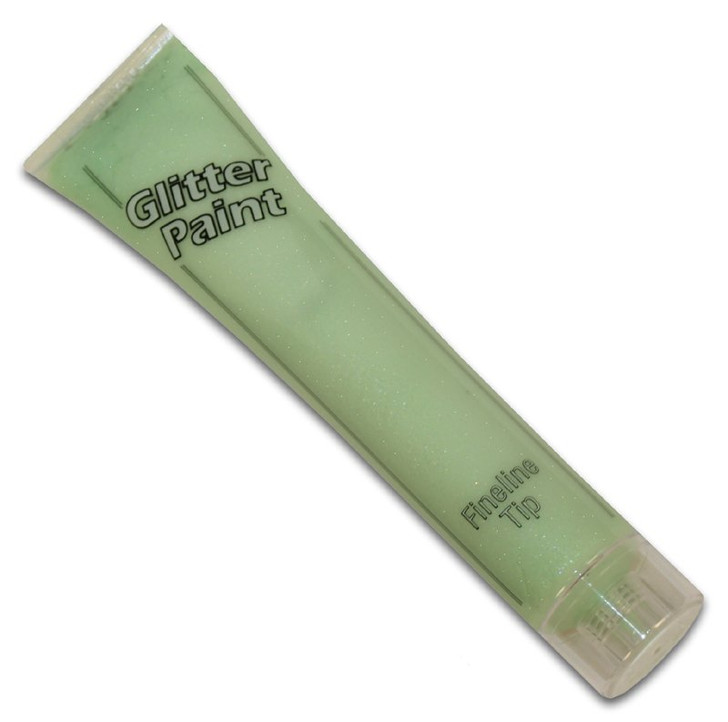 Pastel Green Glitter Paint