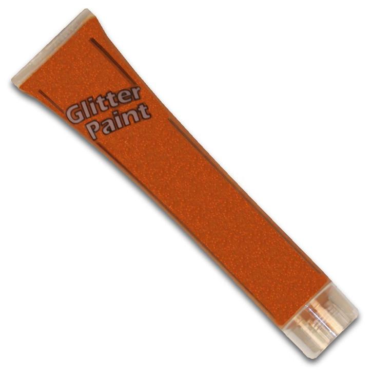 Halloween Orange Glitter Paint