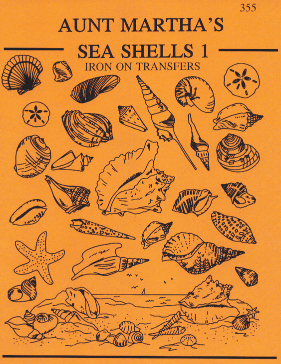 Aunt Martha's® Embroidery Transfer Pattern #355 Sea Shells