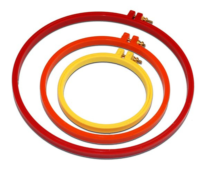 """10"""" Plastic Embroidery Hoop (Red)"""
