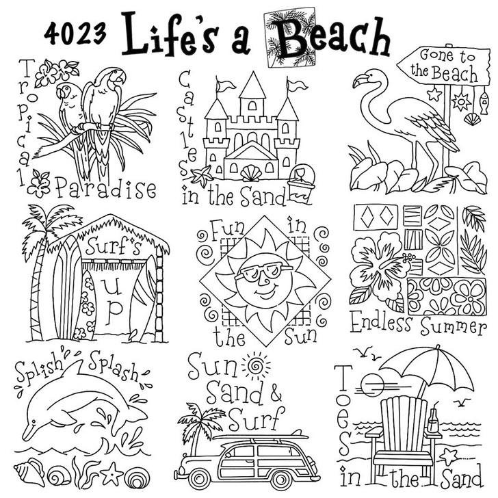 Aunt Martha's #4023 Life's A Beach