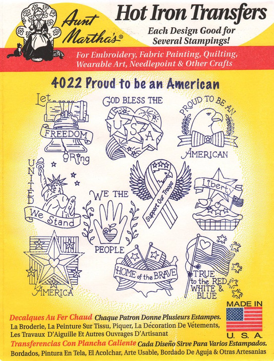 Aunt Martha's #4022 Proud To Be An American