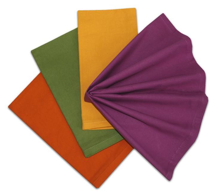 Stitch 'Em Up Napkins Set of 4 - Fall Colors