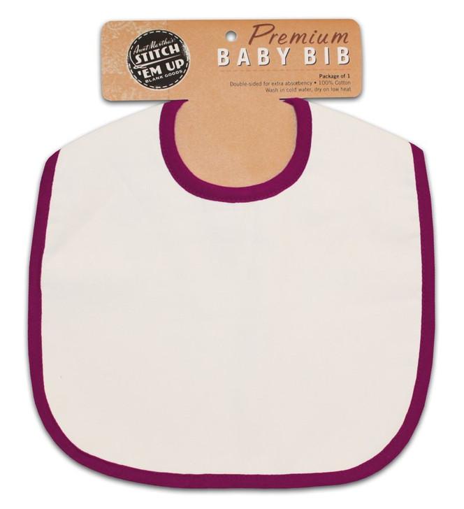 Baby Bib - Raspberry