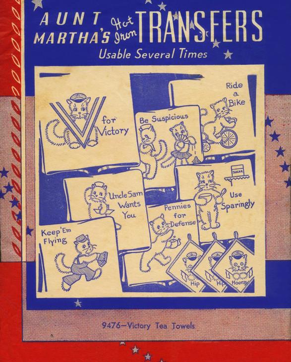 Aunt Martha's #9476 Victory Tea Towels
