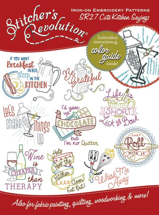 SR27 Stitcher's Revolution Cute Kitchen Sayings