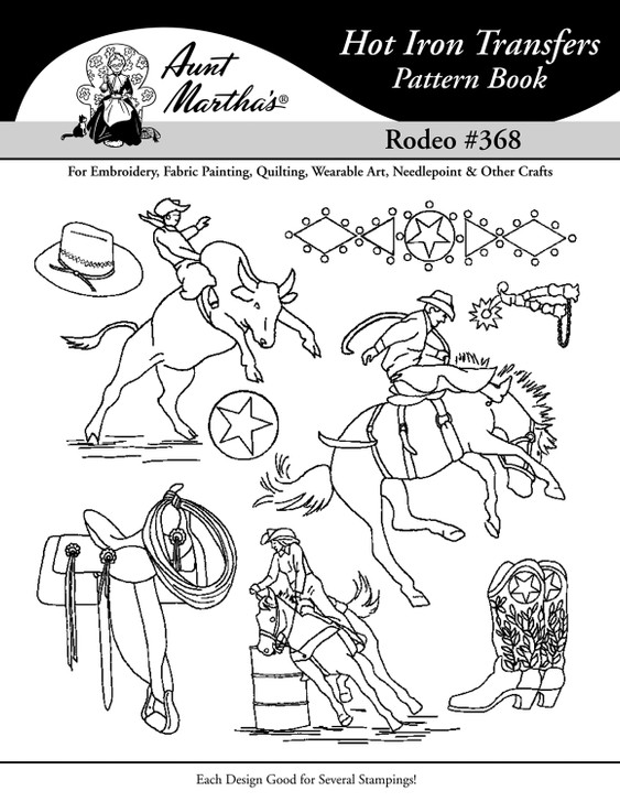 Aunt Martha's® Hot Iron Embroidery Transfer Pattern #368 Rodeo