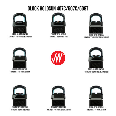 Glock Holosun 407C/507C/508T Dawson Precision Iron Sights