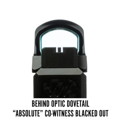 Holosun 507C Behind Optic Dovetail Absolute Co-Witness Blacked Out