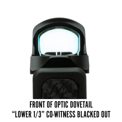 Holosun 507C Front of Optic Dovetail Lower 1/3 Co-Witness Blacked Out