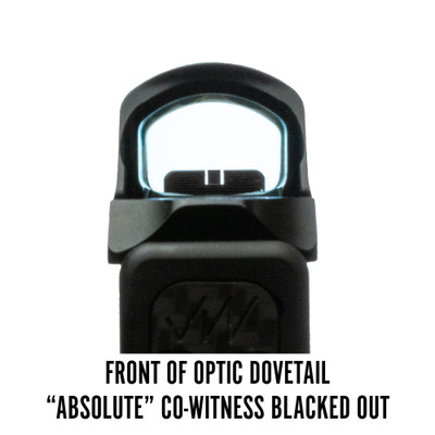 Holosun 507C Front of Optic Dovetail Absolute Co-Witness Blacked Out