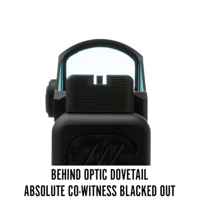 Vortex Viper Behind Optic Dovetail Absolute Co-Witness Blacked Out