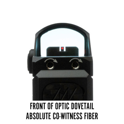 Vortex Viper Front of Optic Dovetail Lower Absolute Co-Witness Fiber