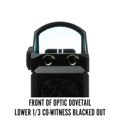 Vortex Viper Front of Optic Dovetail Lower 1/3 Co-Witness Blacked Out