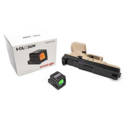Holosun 509T + Glock Optic Milling + Iron Sights