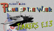 Plane of the Week: Junkers F.13