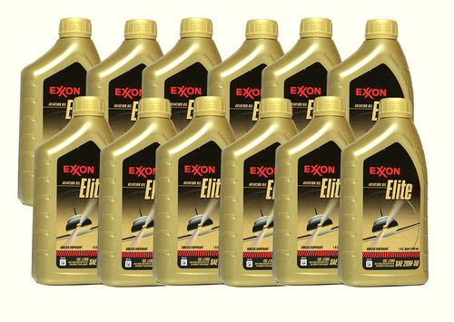 Exxon Aviation Oil Elite 20W-50 - 12/1 Quart Case
