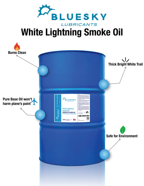 BlueSky White Lightning Smoke Oil - 55 Gallon Drum