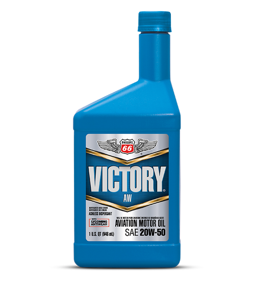 Phillips 66 Victory AW 20w-50 Aviation Engine Oil - 12/1 Quart Case