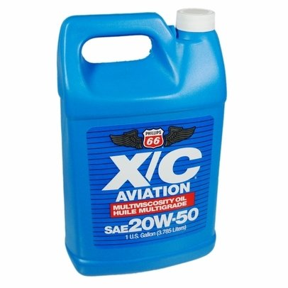 Phillips 66 X/C Aviation Oil 20w-50 Engine Oil - 1 Gallon Bottle