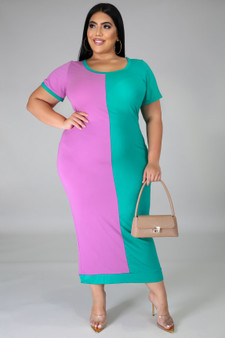 Split Decision Dress PLUS