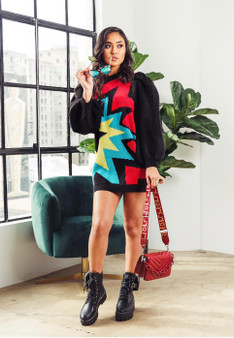 POW SWEATER DRESS