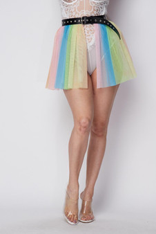 RANNI RAINBOW TULLE  BELT SKIRT